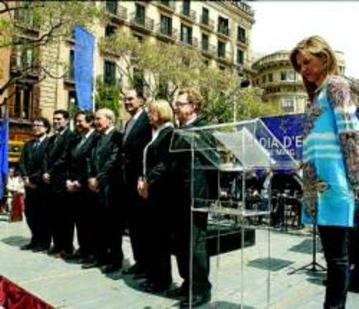 CATALUNYA RECLAMA UNIDAD A LA UE EN EL DÍA DE EUROPA. JOAN PUIG