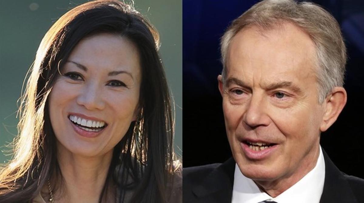 Wendi Deng y Tony Blair