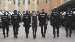 Vicky Luengo, en una imagen promocional de la serie 'Antidisturbios'