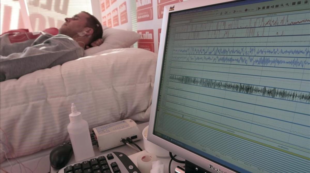 Un paciente con trastorno del sueño.