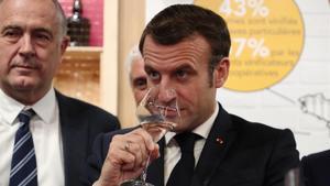 El presidente francés, Emmanuel Macron, este sábado en el Salón Internacional de la Agricultura de París.