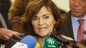 Carmen Calvo, en Córdoba, este miércoles.