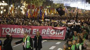 La manifestación celebrada en Barcelona el 21 de diciembre del 2018.