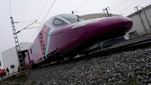 Un tren de la marca AVLO, durante la presentación del AVE 'low cost', el pasado 11 de diciembre.