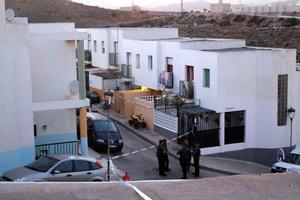 Lugar en el que tuvo lugar el tiroteo mortal en Gádor (Almería).