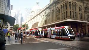 Imagen virtual de la nueva plataforma tranviaria de Alstom.