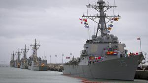 El USS Donald Cook, en la Base Naval de Rota (Cádiz).