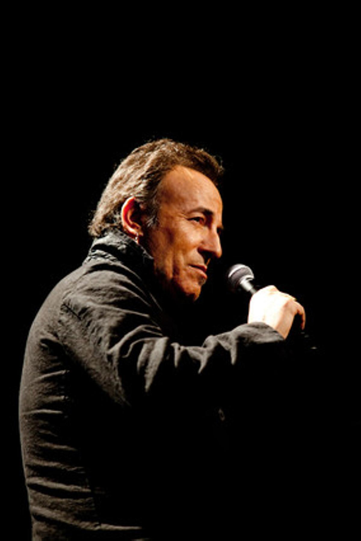 Bruce Springsteen, en la rueda de prensa de París.