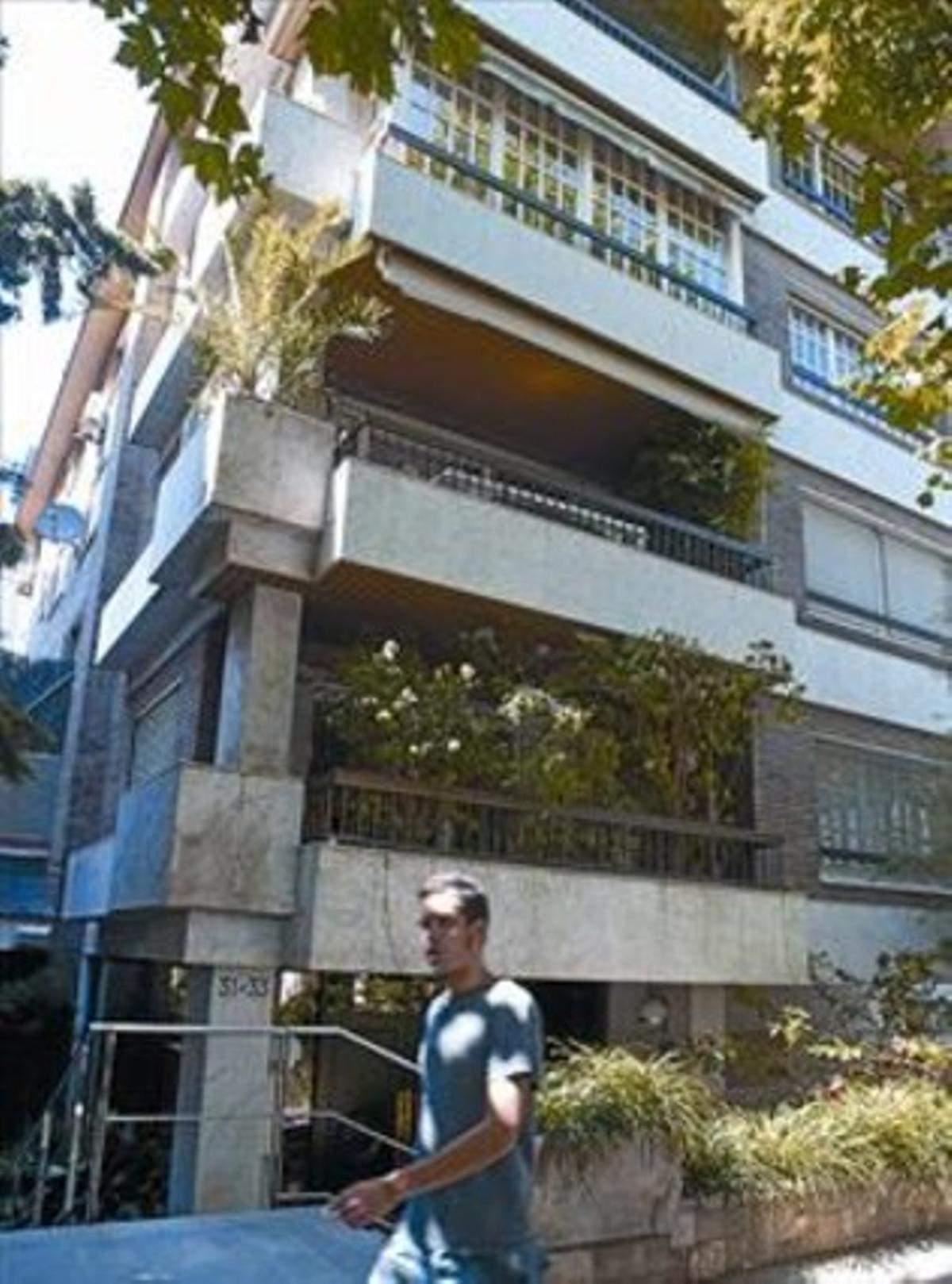 El edificio del conflictoBloque de la calle del Doctor Carulla.