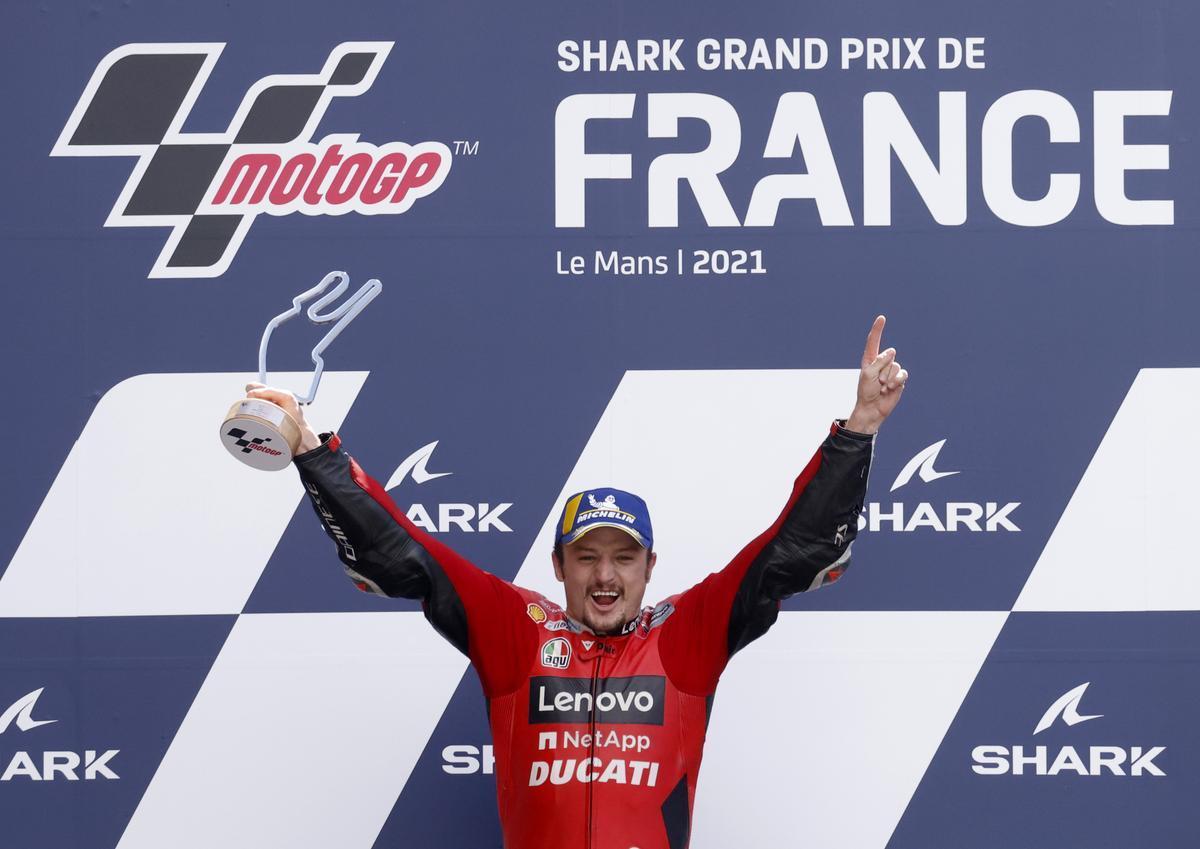 Jack Miller (Ducati) gana el GP de Francia en Le Mans