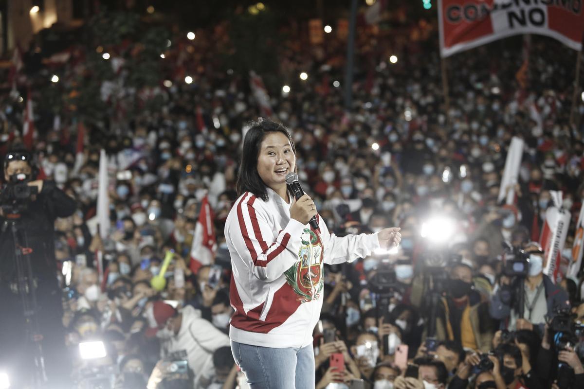 Fujimori, durante un acto electoral de la pasada campaña.