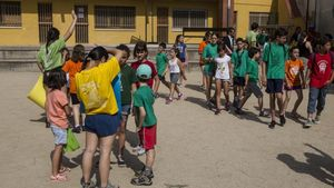 Niños de colonias con la Fundació Pere Tarrés.