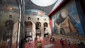 Interior del Teatro-Museo Dalí de Figueres, en una imagen de archivo.
