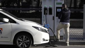 Punto de recarga público coche eléctrico