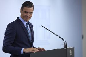 Pedro Sánchez, en una rueda de prensa reciente