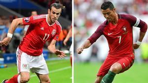 Gareth Bale y Cristiano Ronaldo, en la Eurocopa.
