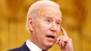 Joe Biden este martes en un acto por el Día Internacional de la Mujer en Washington.