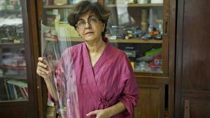 Nalini Malani, este jueves, tras recibir el Premio Joan Miró.