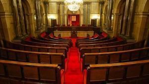 135 escons 8 Imatge de l'hemicicle del Parlament.