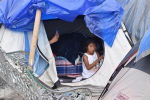 Una imagen del campamento de migrantes de Matamoros.