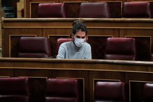 El diputado de Unidas Podemos, Fernando Alvarado