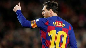 Leo Messi en un partido en el Camp Nou