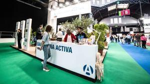 Estand de Barcelona Activa en la última edición del salón Bizbarcelona.