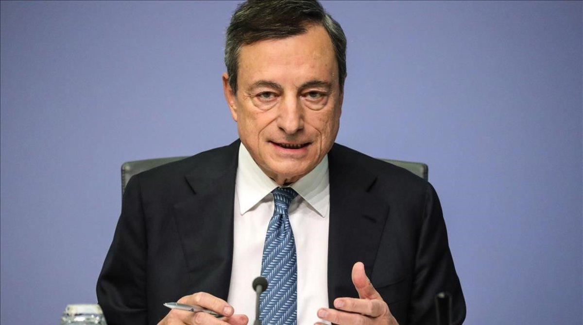 El presidente del Banco central Europeo, Mario Draghi, en una imagen de archivo.