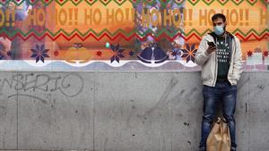 MADRID 21 12 2020  SOCIEDAD  ambiente  de Navidad en el centro de Madrid imagen DAVID CASTRO