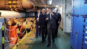 Putin visita acompañado por el jefe ejecutivo de Gazprom,Alexei Miller, los trabajos del gasoducto Trurkstream el pasado mes de junio.