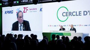 Quim Torra y Juan José Brugera, en la inauguración de la 35ª reunión del Cercle d'Economia en Sitges.