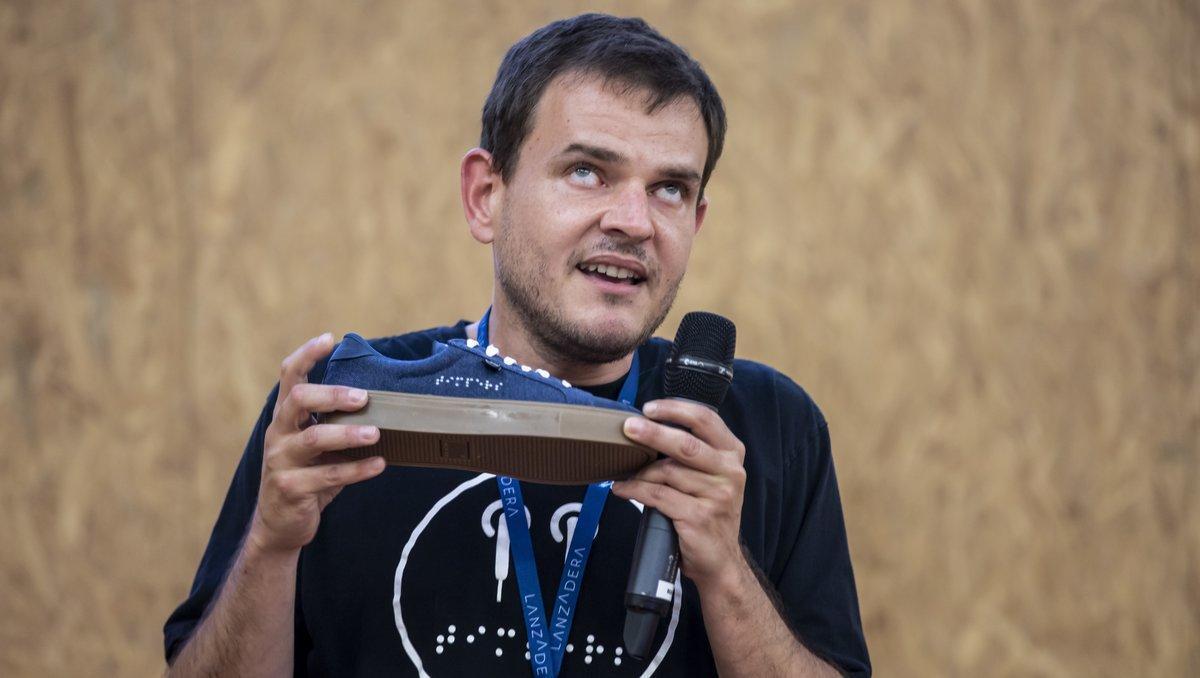 Diego Solivares,responsabledeTimpers, una de las 'start-ups' se ha incorporado al proyectoLanzadera.