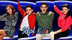 Índigo, Adrián, Óscar y Sara, finalistas de 'Idol Kids'.