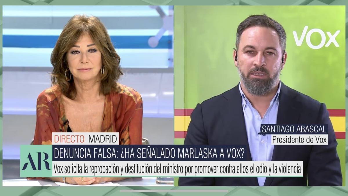 Ana Rosa entrevista a Santiago Abascal