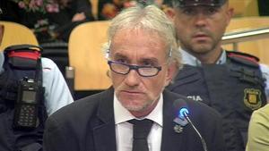 Fernando Blanco, el pasado 2 de octubre, primer día del juicio.