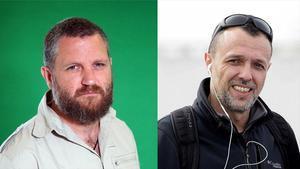 Conmoción por el asesinato de los periodistas españoles David Beirain y Roberto Fraile (ambos en la foto) en Burkina Faso.