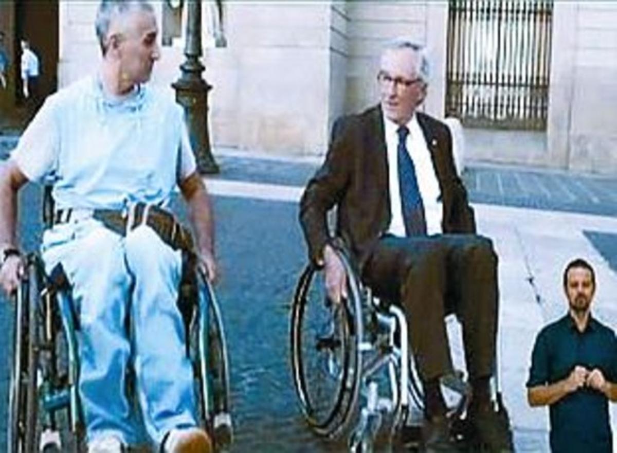 Xavier Trias y Sergi Cutillas, en el programa 'Capacitados'