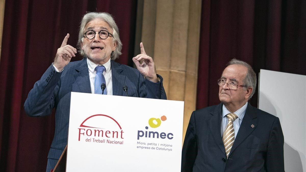 Pimec y Foment se alían contra la ley de cámaras que prepara el Govern