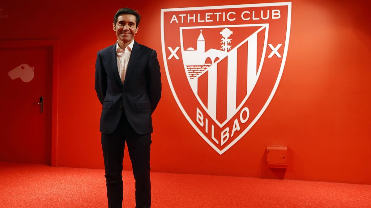 Marcelino, este martes en su presentación como nuevo técnico del Athletic.