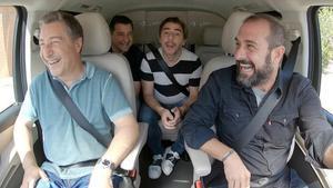 Los hermanos Roca, con Eloi Vila, en 'Al cotxe!'.