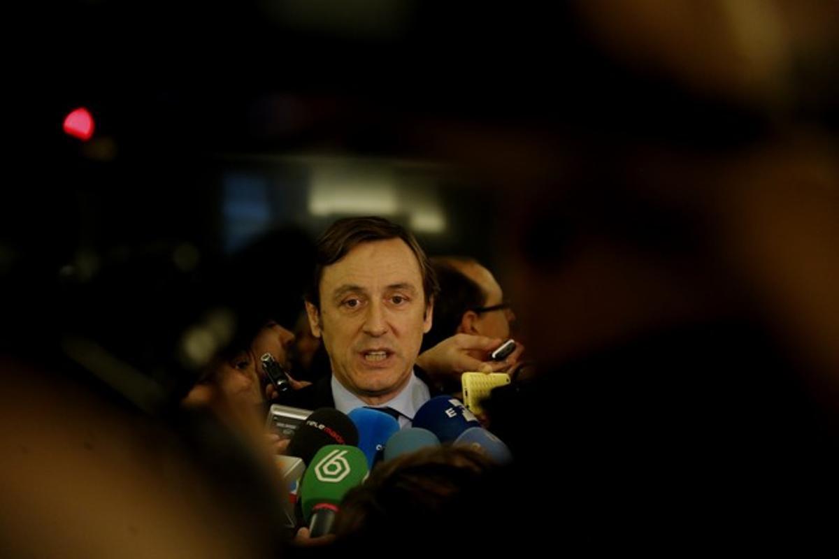 El portavoz parlamentario del PP, Rafael Hernando, en una foto de archivo.