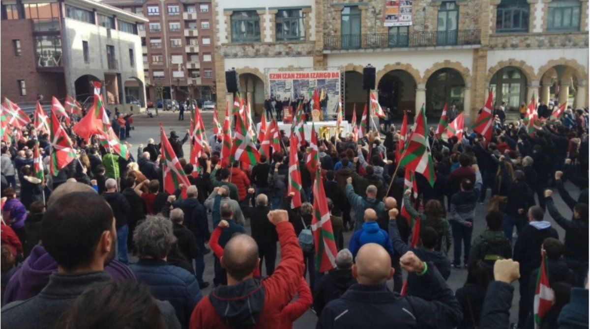 Homenaje al etarra Argala, celebrado el 23 dediciembre de 2018 en Arrigorriaga.