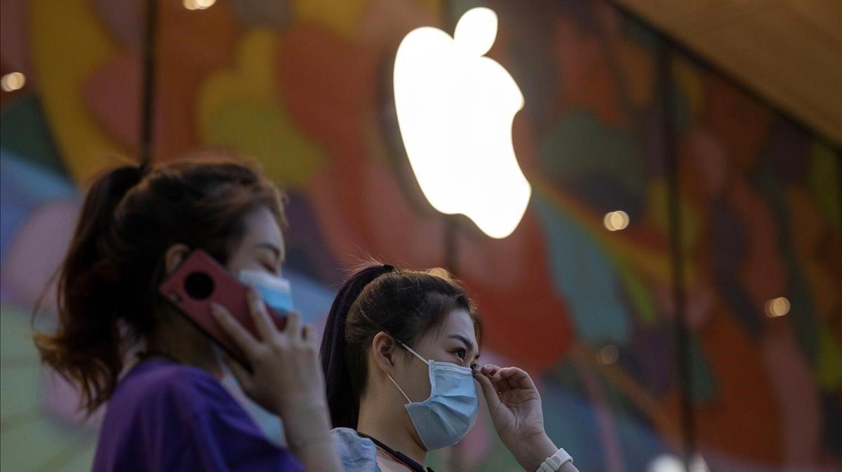 la nueva tienda Apple de Beijing China