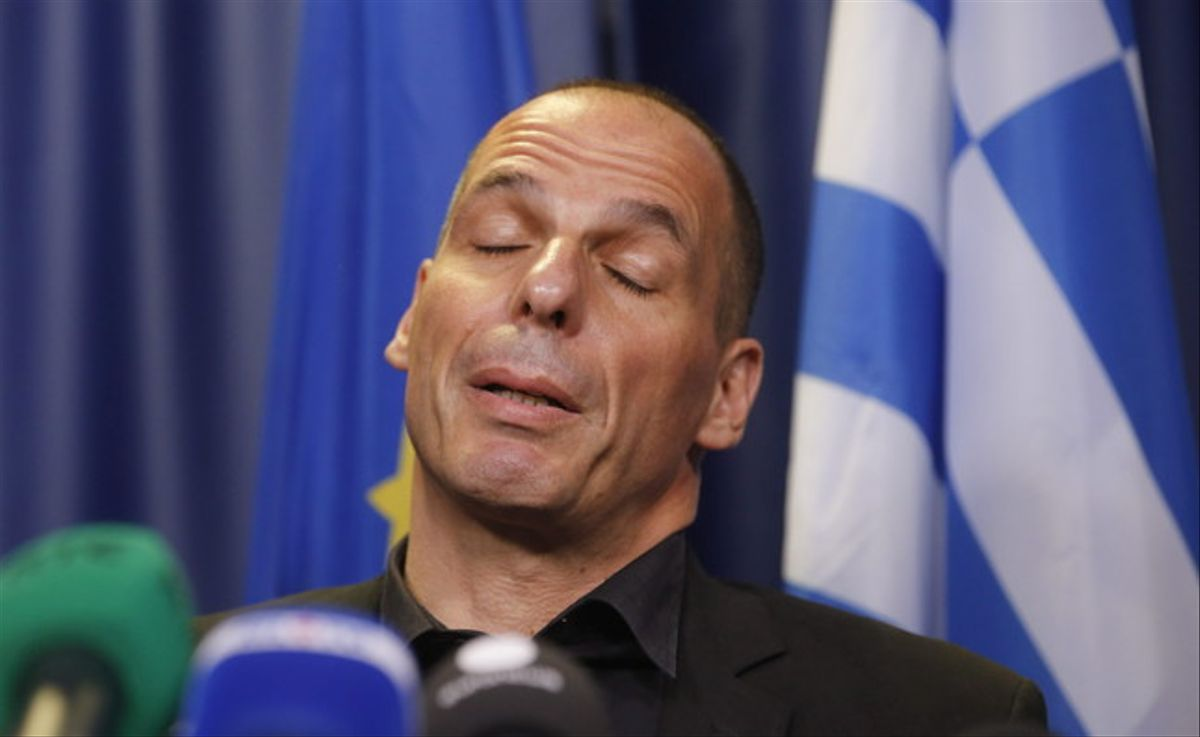 El ministro griego de Finanzas, Yianis varoufakis, en la rueda de prensa de este sábado.