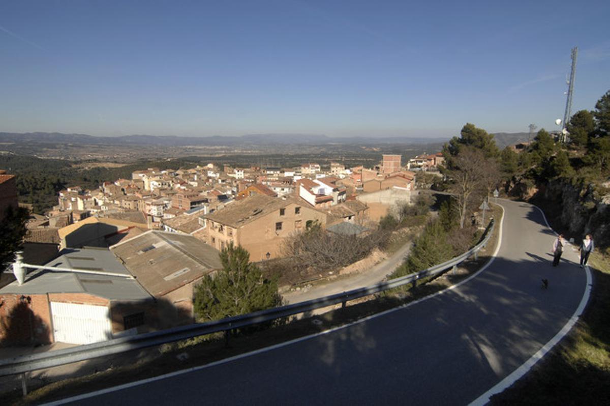 Imagen del pueblo de Rasquera.