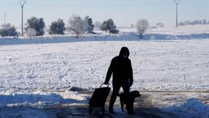 Temperaturas bajas después de la nevada. FOTO: JOSÉ LUIS ROCA