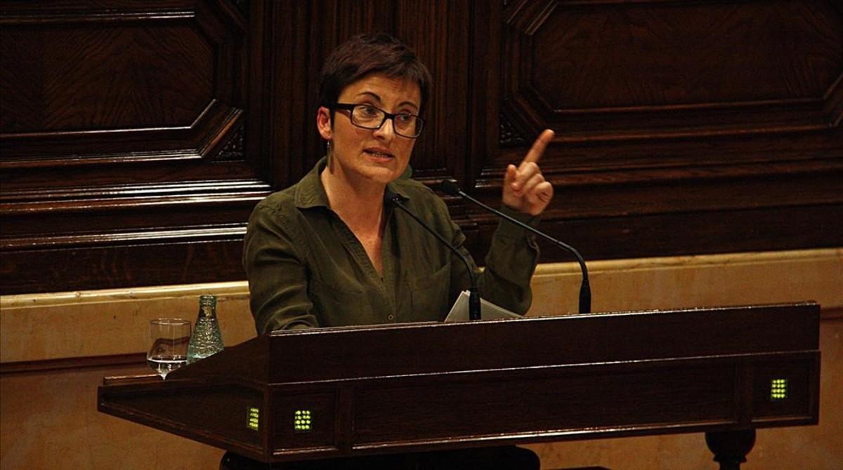 La diputada de Catalunya en Comú Podem,Marta Ribas, en el Parlament.