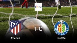Victoria del Atlético de Madrid por la mínima frente al Getafe (1-0)