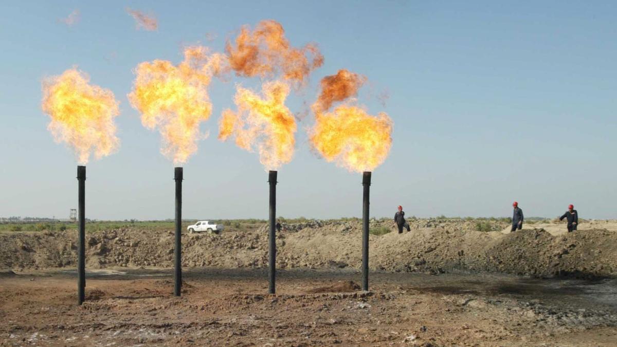 Refinería en Amara, a unos 450 km de Bagdad