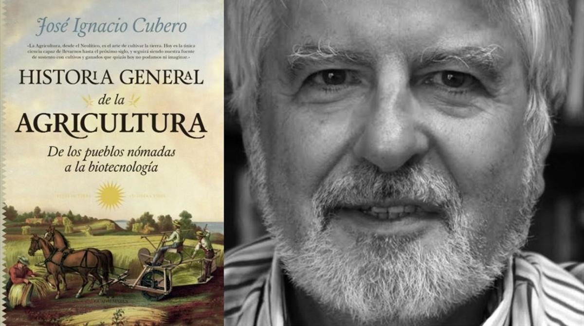 El genetistaJose Ignacio Cubero, autor de Historia general de la agricultura (Guadalmazán, 2018)